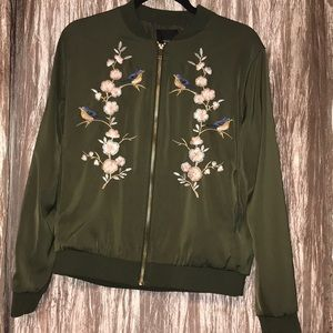 Forever 21 embroidered jacket